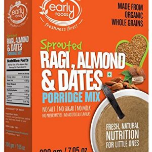 Early Foods Organic Sprouted Ragi Almond Date