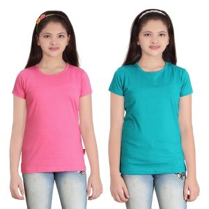 SINIMINI CASUAL SHORT SLEEVE PLAIN GIRLS TOP