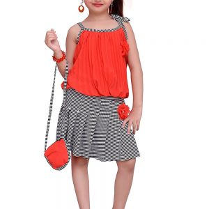 ADIVA Girl's Party Wear Dress for Kids