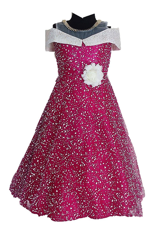 My Lil Princess Baby Girls Birthday Party Wear Frock Dressblue