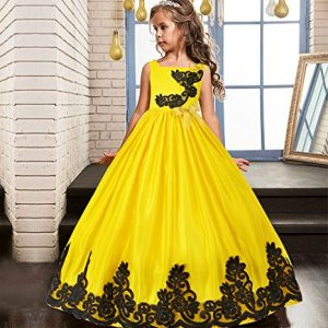 Girls Pageant Wedding Dresses Party Flower Girl Embroidered Gowns