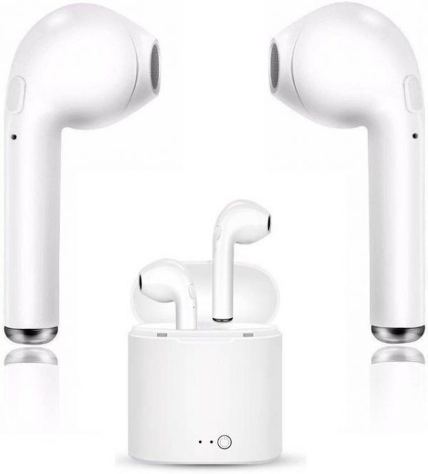 LANIX Wireless i7s Twins Earbud With 1 Connect 2 Function Support Bluetooth Headset with Mic (White, In the Ear)