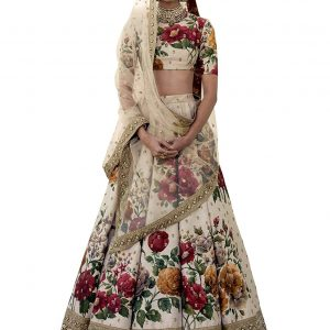 Zeel Clothing Silk Lehenga Choli (ZC7019_Beige_Free Size )