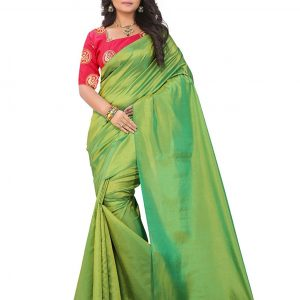 e-VASTRAM Artificial Silk Tassel Saree (Sanag_Green_Free Size)