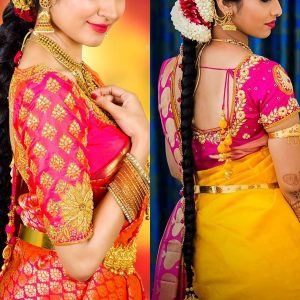 Sneha yellow silk saree